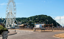 Amusement park in Minehead. Mineheadl, UK - July 27, 2016: view of a small amusement park close to the beach in Minehead, UK Stock Images