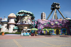 The amusement park, modern architecture Stock Photos