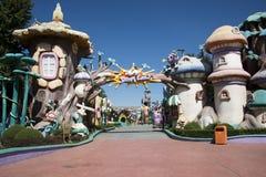 The amusement park, modern architecture Stock Images