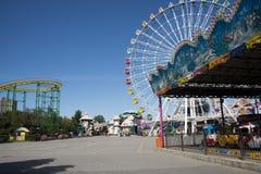 The amusement park, modern architecture Stock Image