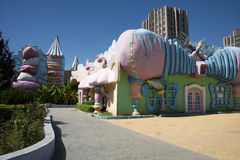 The amusement park, modern architecture Royalty Free Stock Photos