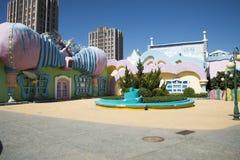The amusement park, modern architecture Stock Photo