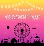 Amusement park - modern vector illustration Stock Photos