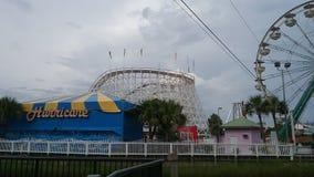 Amusement park in myrtle beach stock photo