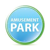 Amusement Park natural aqua cyan blue round button vector illustration