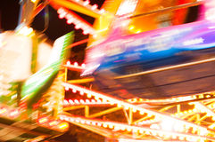 Amusement park at night stock images