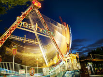 Amusement park at night Stock Image