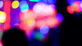 Amusement park at night city defocused bokeh lights