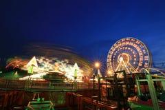 Amusement park at night Stock Photography