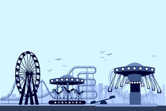The Amusement Park Night. It's vector for your ideas! I think it will be useful to you Royalty Free Stock Photos