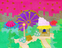 Amusement park paper cutout Stock Photo