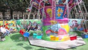 Amusement park - Paris stock footage