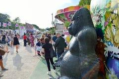 Amusement park in Paris downtown Royalty Free Stock Photo