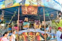Amusement park in Paris downtown Stock Photo
