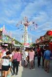 Amusement park in Paris downtown Royalty Free Stock Photos