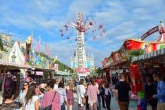Amusement park in Paris downtown Stock Image