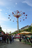 Amusement park in Paris downtown Stock Photos