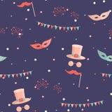 Amusement park pattern royalty free illustration