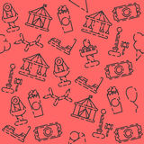 Amusement park pattern. Amusement entertainment park pattern. Vector illustration, EPS 10 Stock Photo