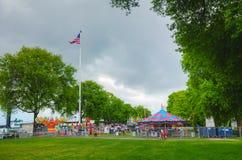 Amusement park in Portland, Oregon stock photo