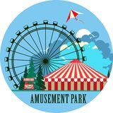Amusement park poster Stock Photography