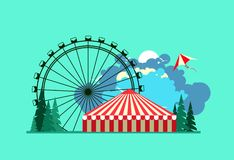 Amusement park poster Stock Images