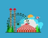 Amusement park poster Royalty Free Stock Photo