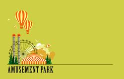 Amusement park poster stock illustration