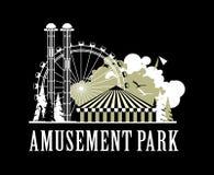 Amusement park poster Stock Photos