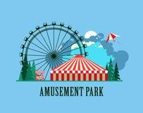Amusement park poster Stock Photo