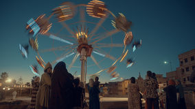 Amusement park in Rabat. Morocco, Carousel Royalty Free Stock Images