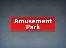 Amusement Park Red Banner Abstract Background stock illustration