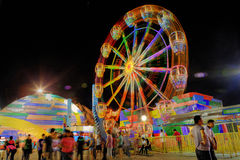 Star City Ferris Wheel Manila Night Royalty Free Stock Photo