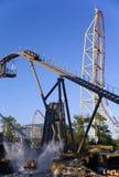 Amusement park rides. Amusement rides in Cedar Point amusement park in Ohio stock photography