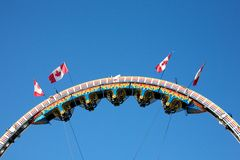 Amusement park rides Royalty Free Stock Photo