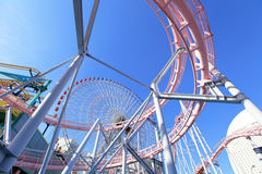 Amusement park rides Stock Photography