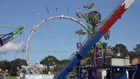 Amusement Park Rides, Fun, Leisure. Stock video of an amusement park stock video footage