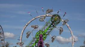 Amusement Park Rides, Fun, Leisure stock video