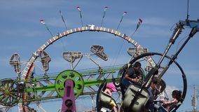 Amusement Park Rides, Fun, Leisure. Stock video of an amusement park stock footage