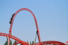 Amusement park roller coaster Stock Photography
