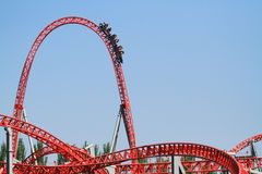 Amusement park roller coaster Royalty Free Stock Photo