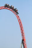 Amusement park roller coaster Stock Photo