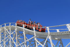 Amusement park roller coaster ride Stock Photography