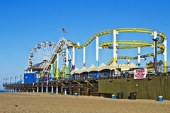Amusement Park on Santa Monica, California Pier Stock Image
