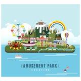 Amusement park scenery Stock Image