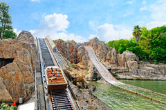 Amusement park in Spain near Salou-Port Aventura. Royalty Free Stock Image