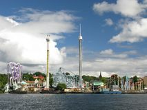 Amusement park (Stockholm, Sweden) Royalty Free Stock Photos