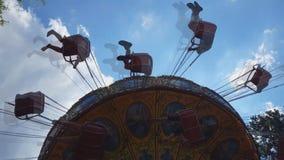 Amusement Park Swing Ride stock footage