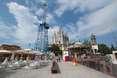 Amusement park on Tibidabo mount Royalty Free Stock Photos