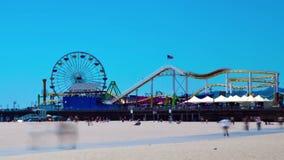 Amusement Park Time lapse. Santa Monica Pier time lapse stock footage